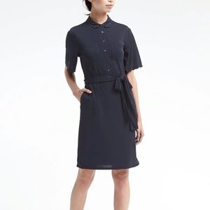 NWT Banana Republic Shirt Dress Navy M Tall p358